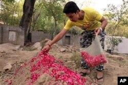 حسن خان بر مقبره زینت