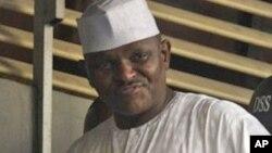 Maj. Hamza Al-Mustapha a wani hoto da aka dauka a 2012.