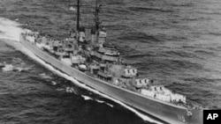 한국전에 참전했던 미 해군의 경순양함 주노호(USS Juneau).