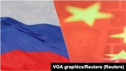 Zastave Rusije i Kine, ilustrativna fotografija (Foto: Reuters)