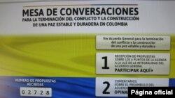 Sitio web oficial de la mesa de conversaciones del gobierno de Colombia y las Farc.