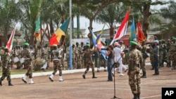 Des Casques bleus de l'ONU à Bangui