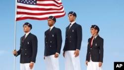 지난 10일 공개된 미국의 런던올림픽 개막식 유니폼