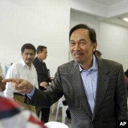 馬來西亞反對派領袖安華(資料圖片)