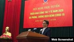 Phó Thủ tướng Vũ Đức Đam phát biểu ngày 25/02/2020. Photo Moi truong va Do thi