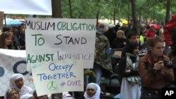 'وال اسٹریٹ پر قبضہ' تحریک میں مسلمان تنظیمیں شامل