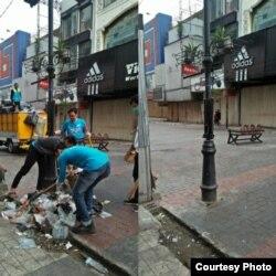Tampak sebelum dan sesudah dari kawasan Alun-Alun Kota Bandung yang dibersihkan relawan CTC dan masyarakat umum. Alun-alun jadi 1 dari lima lokasi konsentrasi sampah usai perayaan tahun baru. (Courtesy: CTC)