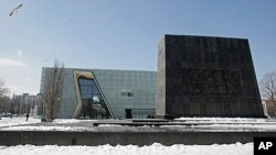 FILE - Museum of the History of Polish Jews in Warsaw, April 8, 2013.