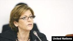 ကုလသမဂၢ လူေမွာင္ခုိကူးမႈဆုိင္ရာ အထူးကုိယ္စားလွယ္ Maria Grazia Giammarinaro. UN Photo/Paulo Filgueiras
