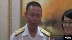 台灣海軍司令部政戰主任聞振國中將回應台灣被納入美日安保新指南問題(視頻截圖)