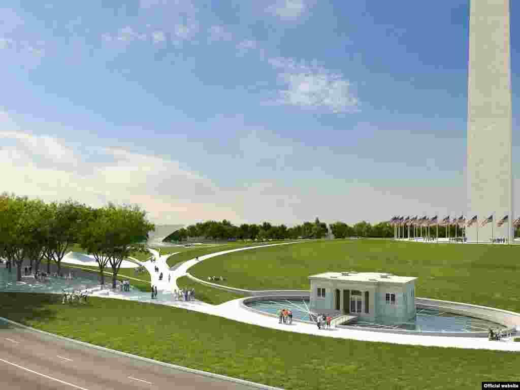 Los terrenos cerca del Monumento a Washington deseñados por Michael Maltzan Architecture & Tom Leader Studio.