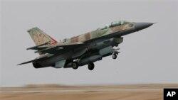 Phi cơ chiến đấu F-16I của Israel cất cánh từ Căn cứ không quân Ramon ở miền nam Israel.