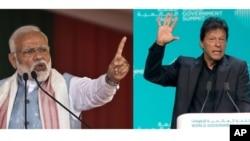 Thủ Tướng Pakistan Imran Khan (phải) và Thủ Tướng Ấn Độ Narendra Modi