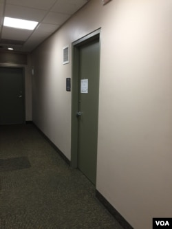 贝塞斯达市堕胎诊所的门口(美国之音亚微)