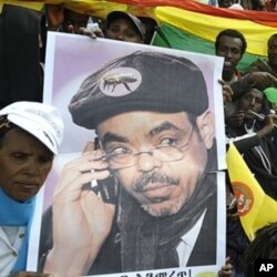 Supporters of the ruling party say they expect a landslide for incumbent president Meles Zenawi