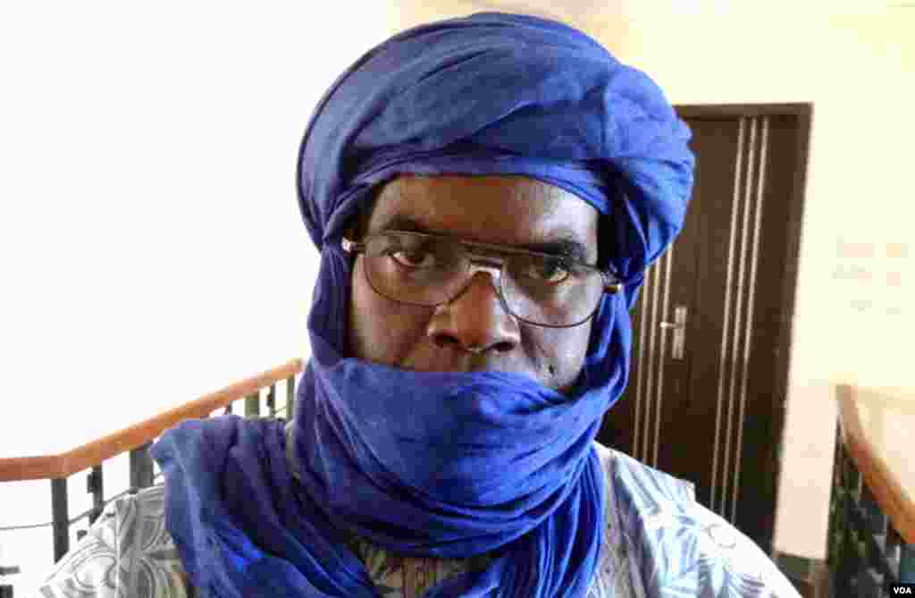 Amadou Cisse, of the Liberation Front in Northern Mali. (Idriss Fall/VOA)