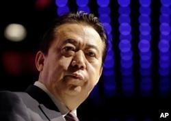 뇌물수수 혐의로 중국에서 체포된 멍훙웨이 전 인터폴(Interpol·국제형사경찰기구) 총재.