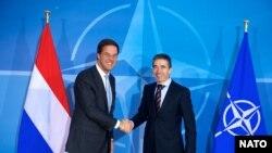 NATO Genel Sekreteri Anders Fogh Rasmussen, Hollanda Başbakanı Mark Rutte'yle Brüksel'de görüştü