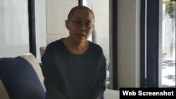 中國諾貝爾和平獎得主劉曉波遺孀劉霞在網絡視頻中