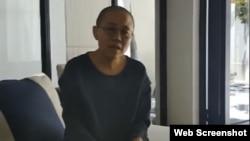 劉曉波遺孀劉霞在網絡視頻中(網絡視頻截圖)