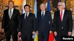 Учисники «нормандських переговорів» у Парижі