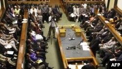 FILE - Zimbabwean parliament in Harare, March 4, 2009.