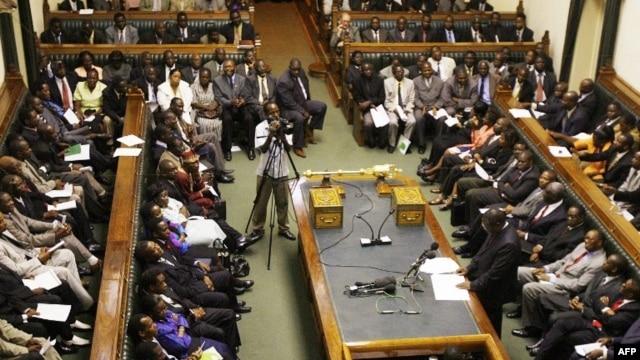 Scene inside Zimbabwe's parliament