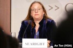 Tiến sĩ Amy Searight thuộc CSIS tại hội thảo hôm 22/1/2020 ở Washington, Mỹ