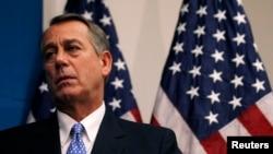 Chủ tịch Hạ viện John Boehner sau cuộc họp với của các Dân biểu đảng Cộng hòa