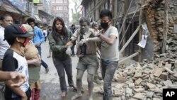尼泊尔地震后景象(摄于2015年4月25 日,星期六)