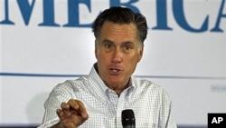 18일 일리노이 주에서 유세 중인 공화당 미트 롬니 후보.