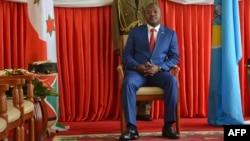 Le président burundais PierreNkurunziza au palais présidentiel à Bujumbura, le 29 juin 2017.