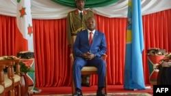 Le président du Burundi PierreNkurunziza au palais présidentielle à Bujumbura, le 29 juin 2017.
