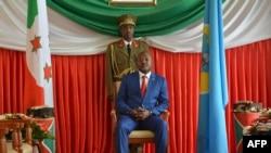 Perezida w'Uburundi PierreNkurunziza ari ku kirimba ciwe i Bujumbura, itariki 29/06/2017.