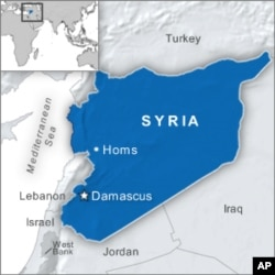 Map of Homs in Syria