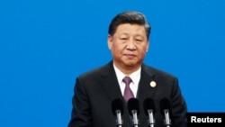 시진핑 중국 국가 주석이 26일 베이징에서 열린 '제2회 일대일로 정상포럼' 개막식에서 기조연설을 하고 있다.