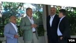 Predsjedavajući Vijeća ministara BiH Vjekoslav Bevanda, Premijer Crne Gore Milo Djukanović, Premijer Albanije Edi Rama i Premijer Hrvatske Zoran Milanović, u Cavtatu, 25. avgusta 2014.