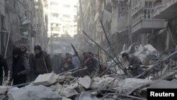Los inclementes bombardeos rusos en Aleppo están a punto de acabar con la resistencia rebelde en la ciudad.
