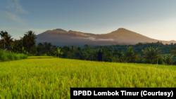 Lansekap Tetebatu di Kaki Gunung Rinjani, NTB. (Foto: Courtesy/BPBD Lombok Timur)