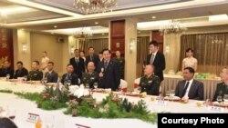 ဗိုလ္ခ်ဳပ္မွဴးႀကီး မင္းေအာင္လိႈင္ ဦးေဆာင္တဲ႔ ခ်စ္ၾကည္ေရး ကိုယ္စားလွယ္ အဖြဲ႔ တရုတ္ႏိုင္ငံ ခရီးစဥ္။ (Souce - Senior General Min Aung Hlaing FB)