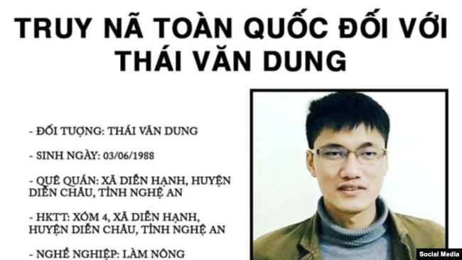 Lệnh truy nã Thái Văn Dung