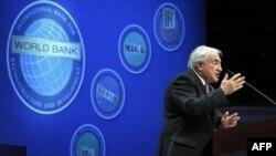 Доминик Стросс-Кан на заседании Всемирного банка и Международного валютного фонда