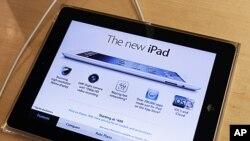 iPad mới nhất của Apple tại gian hàng Apple ở New York, 16/3/2012