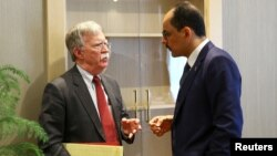 Savjetnik za nacionalnu bezbednost SAD John Bolton i njegov turski kolega Ibrahim Kalin tokom sastanka u predsedničkoj palati u Ankari, Turska, 8. januara 2019.