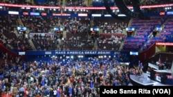 """Konvensi Partai Republik di Cleveland, Ohio dipusatkan pada penegakan hukum bertema """"Make America Safe Again"""" (18/7)."""