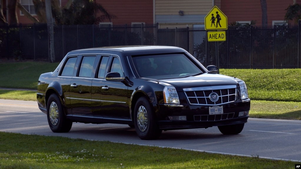Car Without Brakes Nearly Slams into Trump Motorcade