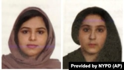 Sisters Rotana, left, and Tala Farea, whose fully clothed bodies, bound together with tape and facing each other, were discovered on the banks of New York City's Hudson River waterfront, Oct. 24, 2018.