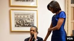 Tras el discurso sobre el Estado de la Unión, el presidente Obama junto a la primera dama, Michelle Obama, llamó a John Buchanan, el padre de Jessica, para informarle sobre la liberación de su hija.
