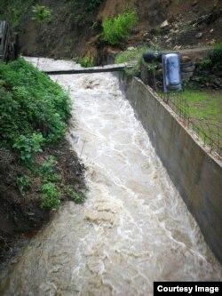 Mjesto nestanka dječaka koji je upao u rijeku (Fotografija preuzeta sa web stranice GSS Žepče)