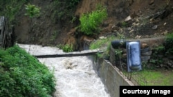Mjesto nestanka dječaka koji je upao u nabujalu rijeku (Fotografija preuzeta sa web stranice GSS Žepče)